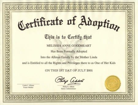 Fake Adoption Birth Certificate Uk Adoption Certificates