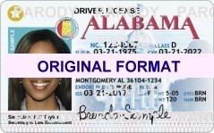 ALABAMA FAKE ID | FAKE ALABAMA DRIVERS LICENSE