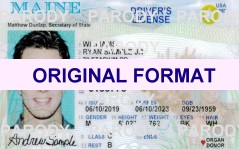 Maine DRIVER LICENSE ORIGINAL FORMAT, DESIGN SPECIFICATIONS, NOVELTY SECURITY CARD PROFILES, IDENTITY, NEW SOFTWARE ID SOFTWARE Maine driver